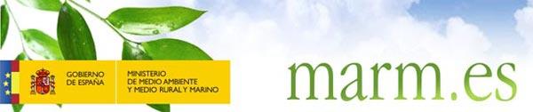 Web del Ministerio de Medio Ambiente