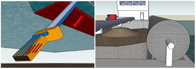 El CETMAR trabaja en una draga ecológica para limpiar los fondos marinos